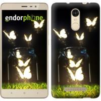 Чехол для Xiaomi Redmi Note 3 Светящиеся бабочки 2983c-95