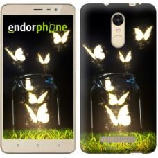 Чехол для Xiaomi Redmi Note 3 pro Светящиеся бабочки 2983c-335
