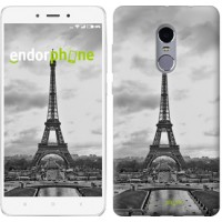 Чехол для Xiaomi Redmi Note 4 Чёрно-белая Эйфелева башня 842u-352