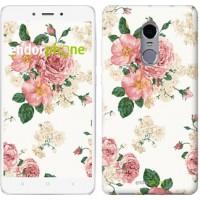 Чехол для Xiaomi Redmi Note 4 цветочные обои v1 2293u-352