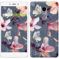 Чехол для Xiaomi Redmi Note 4 Нарисованные цветы 2714u-352