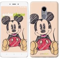 Чехол для Xiaomi Redmi Note 4 Нарисованный Мики Маус 2731u-352