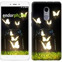 Чехол для Xiaomi Redmi Note 4 Светящиеся бабочки 2983u-352