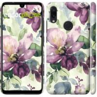 Чехол для Xiaomi Redmi Note 7 Цветы акварелью 2237m-1639