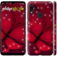 Чехол для Xiaomi Redmi Note 7 Лунная бабочка 1663m-1639