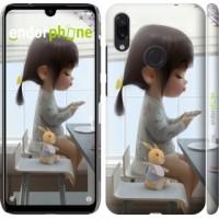 Чехол для Xiaomi Redmi Note 7 Милая девочка с зайчиком 4039m-1639