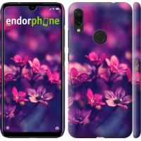 Чехол для Xiaomi Redmi Note 7 Пурпурные цветы 2719m-1639