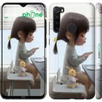 Чехол для Xiaomi Redmi Note 8 Милая девочка с зайчиком 4039m-1787