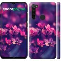 Чехол для Xiaomi Redmi Note 8 Пурпурные цветы 2719m-1787