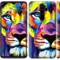 Чехол для Xiaomi Redmi Note 8 Pro Разноцветный лев 2713m-1783
