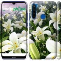 Чехол для Xiaomi Redmi Note 8T Белые лилии 2686m-1818
