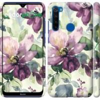Чехол для Xiaomi Redmi Note 8T Цветы акварелью 2237m-1818