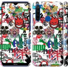 Чехол для Xiaomi Redmi Note 8T Many different logos 4022m-1818