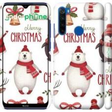 Чехол для Xiaomi Redmi Note 8T Merry Christmas 4106m-1818