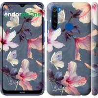 Чехол для Xiaomi Redmi Note 8T Нарисованные цветы 2714m-1818