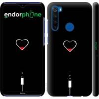 Чехол для Xiaomi Redmi Note 8T Подзарядка сердца 4274m-1818