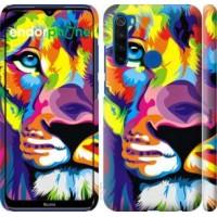 Чехол для Xiaomi Redmi Note 8T Разноцветный лев 2713m-1818