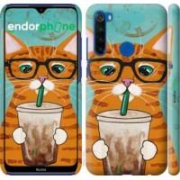 Чехол для Xiaomi Redmi Note 8T Зеленоглазый кот в очках 4054m-1818