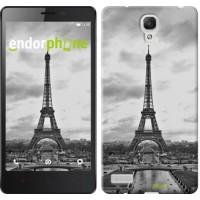 Чехол для Xiaomi Redmi Note Чёрно-белая Эйфелева башня 842u-111