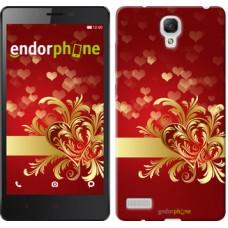 Чехол для Xiaomi Redmi Note Ажурные сердца 734u-111