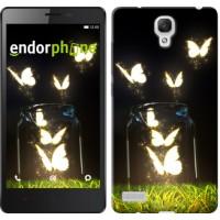 Чехол для Xiaomi Redmi Note Светящиеся бабочки 2983u-111